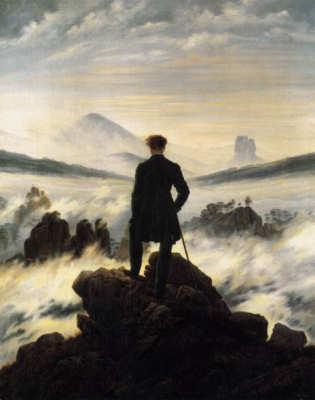 Caspar David Friedrich: Il viandante sul mare di nebbia