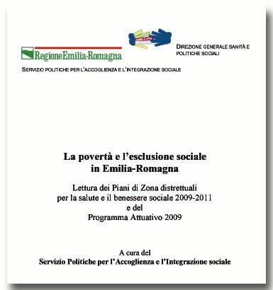 La povertà e l'esclusione sociale in Emilia-Romagna. Lettura dei Piani di Zona