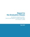 Report to the evaluative clause