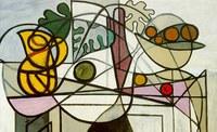 Pablo Picasso, Brocca d'acqua e ciotola di frutta