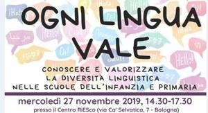 """Bologna, seminario """"Ogni lingua vale"""""""