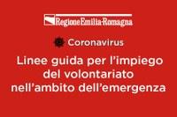 Linee guida per l'impiego del Volontariato nell'ambito dell'emergenza epidemiologica Covid-19